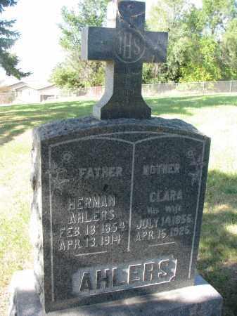 AHLERS, CLARA - Cedar County, Nebraska | CLARA AHLERS - Nebraska Gravestone Photos