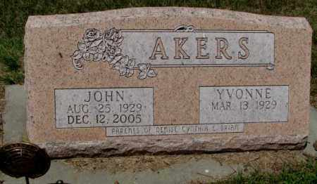 AKERS, JOHN - Cedar County, Nebraska   JOHN AKERS - Nebraska Gravestone Photos