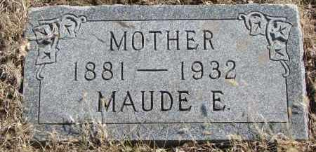 AKINS, MAUDE E. - Cedar County, Nebraska | MAUDE E. AKINS - Nebraska Gravestone Photos