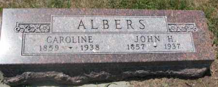 ALBERS, CAROLINE - Cedar County, Nebraska   CAROLINE ALBERS - Nebraska Gravestone Photos