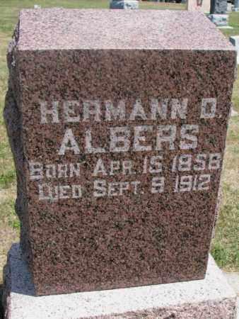 ALBERS, HERMANN D. - Cedar County, Nebraska   HERMANN D. ALBERS - Nebraska Gravestone Photos