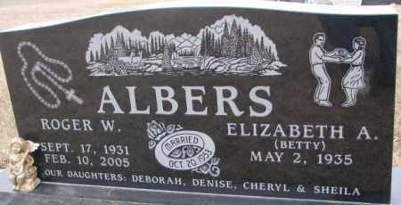 ALBERS, ELIZABETH A. - Cedar County, Nebraska | ELIZABETH A. ALBERS - Nebraska Gravestone Photos