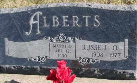 ALBERTS, RUSSELL O. - Cedar County, Nebraska | RUSSELL O. ALBERTS - Nebraska Gravestone Photos