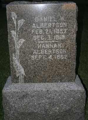 ALBERTSON, DANIEL W - Cedar County, Nebraska | DANIEL W ALBERTSON - Nebraska Gravestone Photos