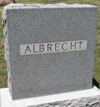 ALBRECHT, PLOT - Cedar County, Nebraska | PLOT ALBRECHT - Nebraska Gravestone Photos
