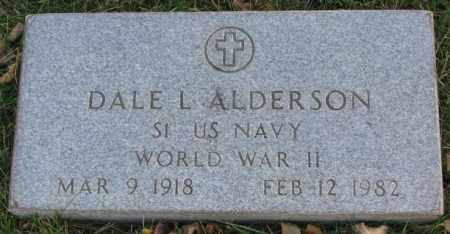 ALDERSON, DALE L. (WW II MARKER) - Cedar County, Nebraska   DALE L. (WW II MARKER) ALDERSON - Nebraska Gravestone Photos