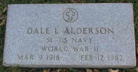 ALDERSON, DALE L. (WW II MARKER) - Cedar County, Nebraska | DALE L. (WW II MARKER) ALDERSON - Nebraska Gravestone Photos