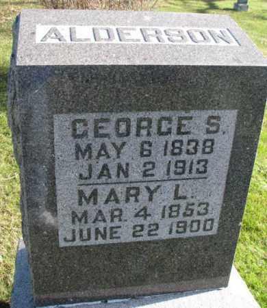 ALDERSON, MARY L. - Cedar County, Nebraska   MARY L. ALDERSON - Nebraska Gravestone Photos