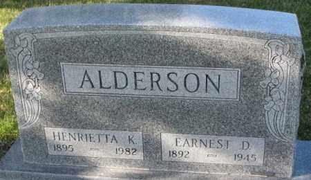 ALDERSON, HENRIETTA K. - Cedar County, Nebraska | HENRIETTA K. ALDERSON - Nebraska Gravestone Photos