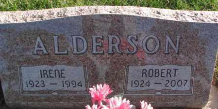 ALDERSON, IRENE - Cedar County, Nebraska | IRENE ALDERSON - Nebraska Gravestone Photos