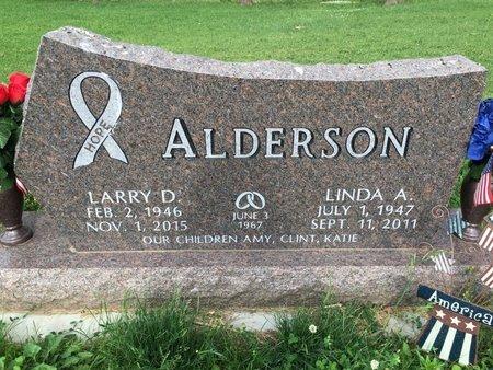 ALDERSON, LINDA A - Cedar County, Nebraska | LINDA A ALDERSON - Nebraska Gravestone Photos