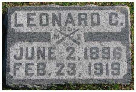 ALDERSON, LEONARD C. - Cedar County, Nebraska | LEONARD C. ALDERSON - Nebraska Gravestone Photos