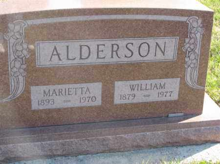 ALDERSON, WILLIAM - Cedar County, Nebraska   WILLIAM ALDERSON - Nebraska Gravestone Photos