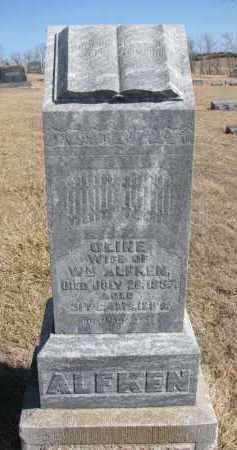 ALFKEN, OLINE - Cedar County, Nebraska | OLINE ALFKEN - Nebraska Gravestone Photos