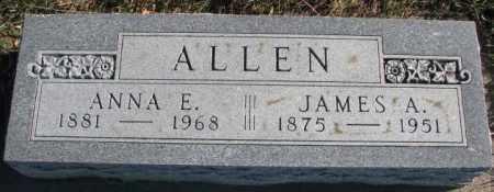 ALLEN, JAMES A. - Cedar County, Nebraska | JAMES A. ALLEN - Nebraska Gravestone Photos