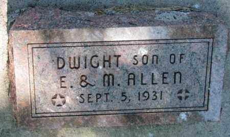 ALLEN, DWIGHT - Cedar County, Nebraska | DWIGHT ALLEN - Nebraska Gravestone Photos