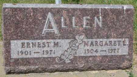 ALLEN, MARGARETE - Cedar County, Nebraska | MARGARETE ALLEN - Nebraska Gravestone Photos