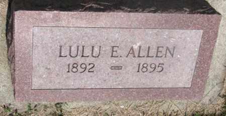 ALLEN, LULU E. - Cedar County, Nebraska | LULU E. ALLEN - Nebraska Gravestone Photos