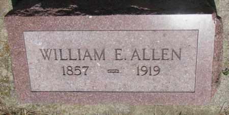 ALLEN, WILLIAM E. - Cedar County, Nebraska | WILLIAM E. ALLEN - Nebraska Gravestone Photos