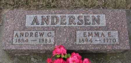 ANDERSEN, EMMA E. - Cedar County, Nebraska | EMMA E. ANDERSEN - Nebraska Gravestone Photos