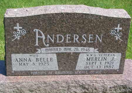 ANDERSEN, MERLIN J. - Cedar County, Nebraska | MERLIN J. ANDERSEN - Nebraska Gravestone Photos