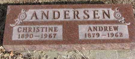 ANDERSEN, CHRISTINE - Cedar County, Nebraska | CHRISTINE ANDERSEN - Nebraska Gravestone Photos
