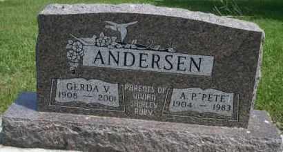 "ANDERSEN, A P ""PETE"" - Cedar County, Nebraska | A P ""PETE"" ANDERSEN - Nebraska Gravestone Photos"