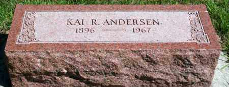 ANDERSEN, KAI R - Cedar County, Nebraska | KAI R ANDERSEN - Nebraska Gravestone Photos