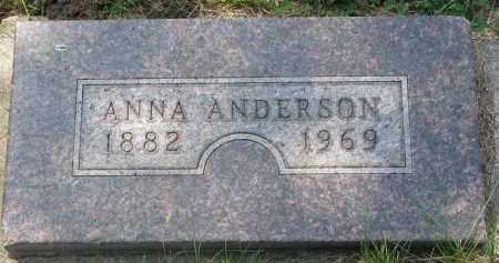 ANDERSON, ANNA - Cedar County, Nebraska   ANNA ANDERSON - Nebraska Gravestone Photos