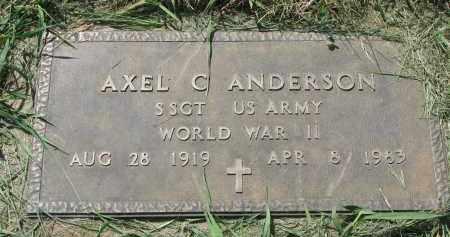 ANDERSON, AXEL C. (WW II) - Cedar County, Nebraska | AXEL C. (WW II) ANDERSON - Nebraska Gravestone Photos
