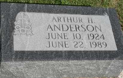 ANDERSON, ARTHUR H - Cedar County, Nebraska | ARTHUR H ANDERSON - Nebraska Gravestone Photos