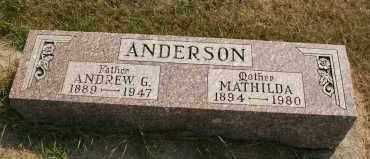 ANDERSON, MATHILDA - Cedar County, Nebraska | MATHILDA ANDERSON - Nebraska Gravestone Photos