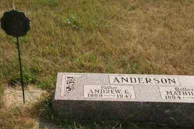 ANDERSON, ANDREW G - Cedar County, Nebraska | ANDREW G ANDERSON - Nebraska Gravestone Photos