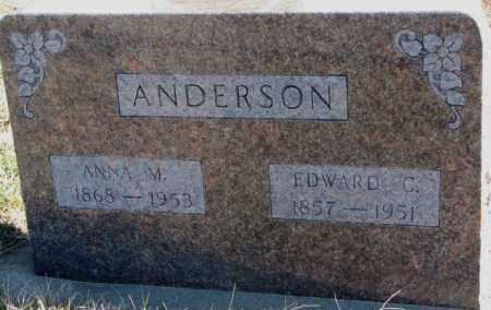 ANDERSON, EDWARD C. - Cedar County, Nebraska | EDWARD C. ANDERSON - Nebraska Gravestone Photos