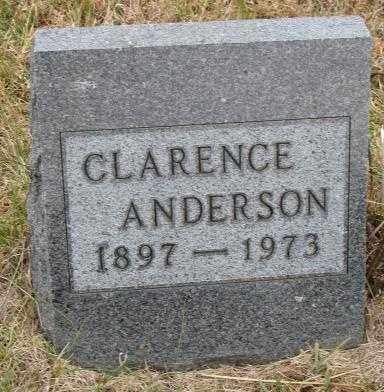 ANDERSON, CLARENCE - Cedar County, Nebraska | CLARENCE ANDERSON - Nebraska Gravestone Photos