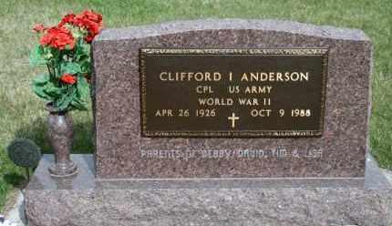 ANDERSON, CLIFFORD I - Cedar County, Nebraska | CLIFFORD I ANDERSON - Nebraska Gravestone Photos