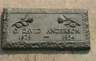 ANDERSON, C DAVID - Cedar County, Nebraska | C DAVID ANDERSON - Nebraska Gravestone Photos