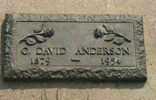 ANDERSON, C DAVID - Cedar County, Nebraska | C DAVID ANDERSON - Nebraska Gravestone Photos