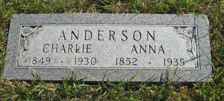 ANDERSON, CHARLIE - Cedar County, Nebraska | CHARLIE ANDERSON - Nebraska Gravestone Photos