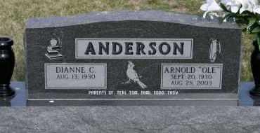 "ANDERSON, ARNOLD ""OLE"" - Cedar County, Nebraska | ARNOLD ""OLE"" ANDERSON - Nebraska Gravestone Photos"
