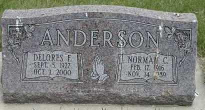 ANDERSON, DELORES F - Cedar County, Nebraska | DELORES F ANDERSON - Nebraska Gravestone Photos