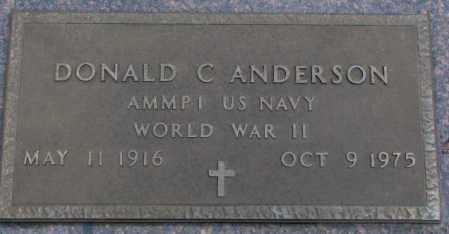 ANDERSON, DONALD C. (WW II MARKER) - Cedar County, Nebraska | DONALD C. (WW II MARKER) ANDERSON - Nebraska Gravestone Photos