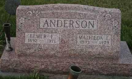 ANDERSON, ELMER F - Cedar County, Nebraska | ELMER F ANDERSON - Nebraska Gravestone Photos