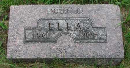 ANDERSON, ELLA - Cedar County, Nebraska | ELLA ANDERSON - Nebraska Gravestone Photos