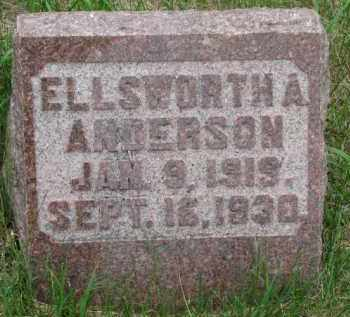 ANDERSON, ELLSWORTH A. - Cedar County, Nebraska | ELLSWORTH A. ANDERSON - Nebraska Gravestone Photos