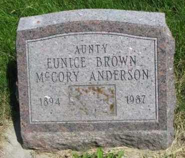 ANDERSON, EUNICE - Cedar County, Nebraska | EUNICE ANDERSON - Nebraska Gravestone Photos