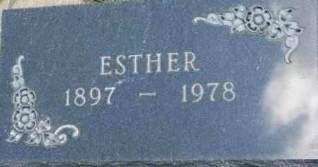 ANDERSON, ESTHER - Cedar County, Nebraska | ESTHER ANDERSON - Nebraska Gravestone Photos