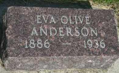 ANDERSON, EVA OLIVE - Cedar County, Nebraska | EVA OLIVE ANDERSON - Nebraska Gravestone Photos