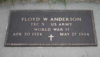 ANDERSON, FLOYD W - Cedar County, Nebraska   FLOYD W ANDERSON - Nebraska Gravestone Photos