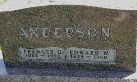 ANDERSON, FRANCES G. - Cedar County, Nebraska | FRANCES G. ANDERSON - Nebraska Gravestone Photos